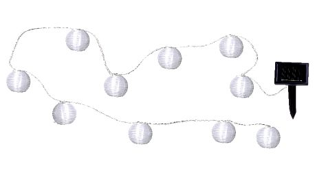 Světelný LED řetěz vhodný do exteriéru Best Season Lampions, 10 světýlek