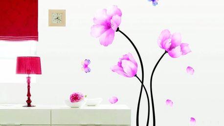 Sada samolepek Ambiance Pink Flowers And Butterflies