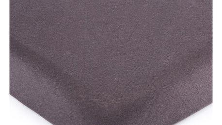 4Home jersey prostěradlo tmavě šedá, 180 x 200 cm