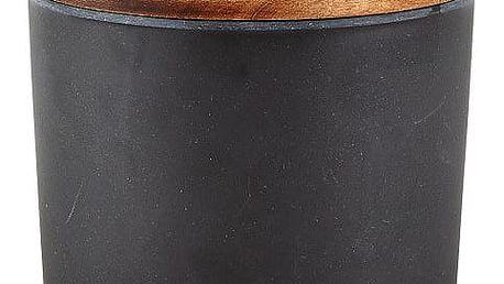 Černá bambusová dóza na potraviny s víkem Villa Collection, 600ml