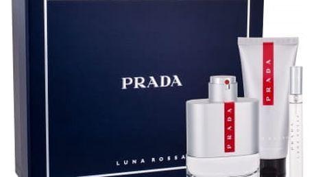 Prada Luna Rossa 100 ml dárková kazeta pro muže toaletní voda 100 ml + toaletní voda 10 ml + balzám po holení 100 ml