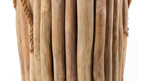 Stolička z teakového dřeva s úchyty Moycor Marsella
