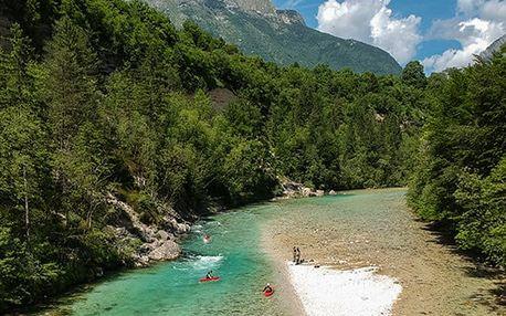 5denní zájezd pro 1 osobu za raftingem i mořem do Slovinska