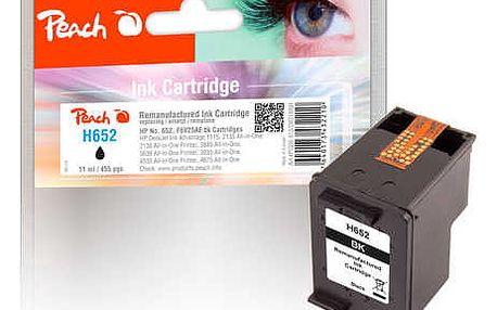 Inkoustová náplň Peach HP 652, černá (319931)