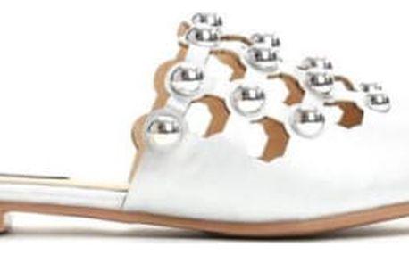 Dámské stříbrné pantofle Peggy 012