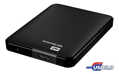 Western Digital Elements Portable 2TB USB 3.0 (WDBU6Y0020BBK-EESN) černý