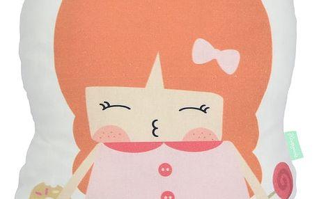 Polštářek z čisté bavlny Happynois Candy Girl, 40x30 cm