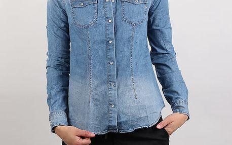 Košile Replay W2786A Hemd Modrá