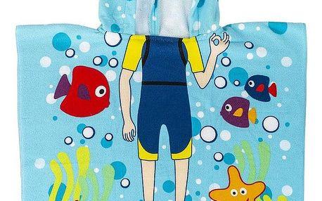 JAHU Dětské pončo Potápěč, 60 x 120 cm