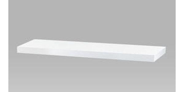 Nástěnná polička 80cm, barva bílá