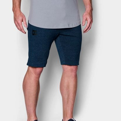 Kraťasy Under Armour SS Terry Tapered Short Modrá