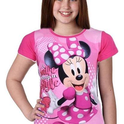 Dívčí tričko s krátkým rukávem Minnie