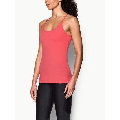 Tílko Under Armour Favorite Shelf Bra Cami Růžová
