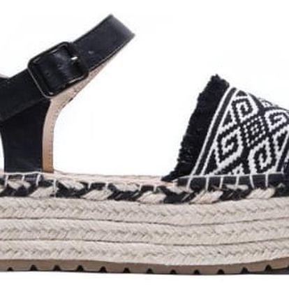 Dámské černé sandále na platformě Diane 8239