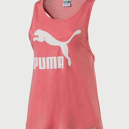 Tílko Puma Classics Logo Tank Růžová