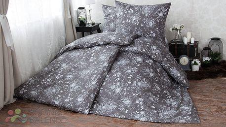 XPOSE ® Bavlněné povlečení na dvě lůžka MARIANA - šedá 140x200, 70x90