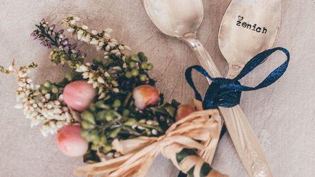 La de da! Living Set postříbřených čajových lžiček Ženich & Nevěsta, stříbrná barva, kov