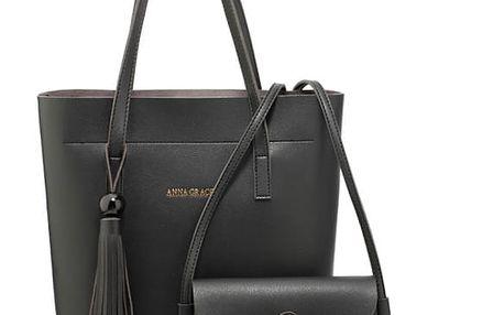 SET: Dámská černá kabelka Kessy 612