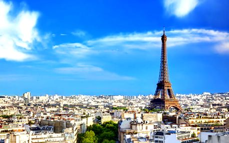 4denní zájezd do Paříže pro 1 osobu. Magická Paříž s návštěvou Eiffelovy věže, ubytováním v hotelu.