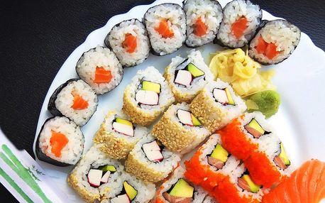 Sety sushi s sebou: 18–28 ks s rybou i zeleninou