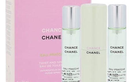 Chanel Chance Eau Fraiche 3x20 ml toaletní voda Twist and Spray pro ženy miniatura