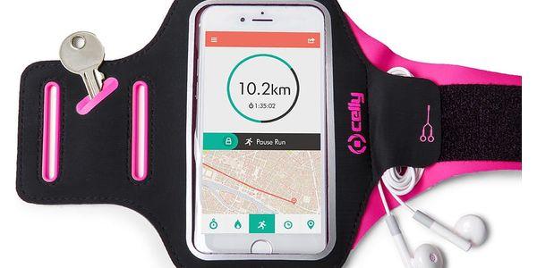 Pouzdro na mobil sportovní Celly Armband XXL (ARMBANDXXLPK) růžové2