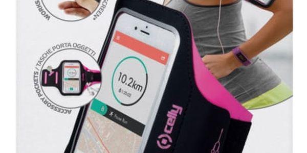 Pouzdro na mobil sportovní Celly Armband XXL (ARMBANDXXLPK) růžové4