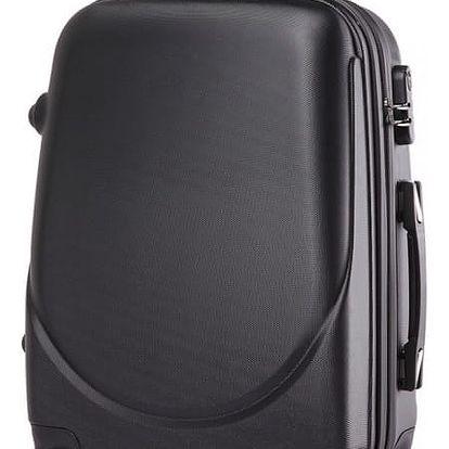 Dámský černý kufr na kolečkách Gyna 1602