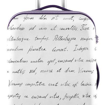 Bílý obal na kufr Oyo Concept Spisovatel, 67 x 43 cm