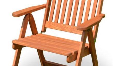 Tradgard HOLIDAY 2703 Zahradní dřevěné křeslo mořené FSC