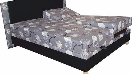 Manželská postel KAMASUTRA 175 cm včetně roštu, matrace a ÚP