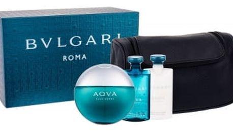 Bvlgari Aqva Pour Homme 100 ml dárková kazeta pro muže toaletní voda 100 ml + sprchový gel 75 ml + balzám po holení 75 ml + kosmetická taška