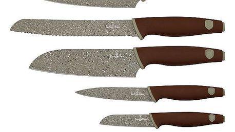 Berlinger Haus 6dílná sada nožů s mramorovým povrchem Granit Diamond Line BH-2113