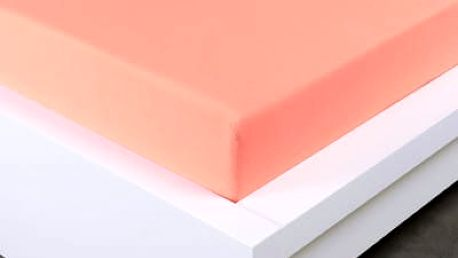 XPOSE ® Jersey prostěradlo dvoulůžko - lososová 180x200 cm