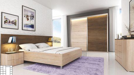 Manželská postel CARMEN 160 cm vč. roštu a nočních stolků