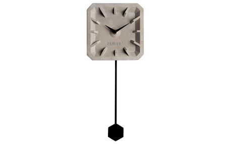 Betonové nástěnné hodiny s černými detaily Zuiver Tiktak