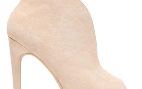 Dámské béžové kotníčkové boty Angelika 1191