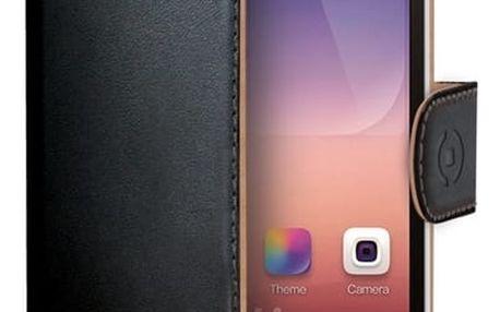 Pouzdro na mobil flipové Celly Wally pro Huawei P8 Lite černé (WALLY507)