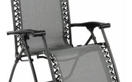 Garthen 54051 Zahradní skládací houpací lehátko s podhlavníkem - šedé