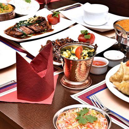 Velkolepá indicko-thajská hostina pro 2-4 osoby