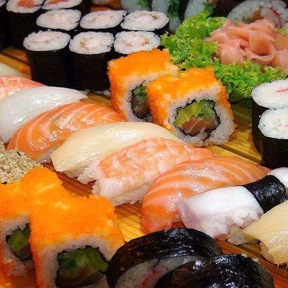 Až 72 ks čerstvého sushi a taštičky Gunmandu