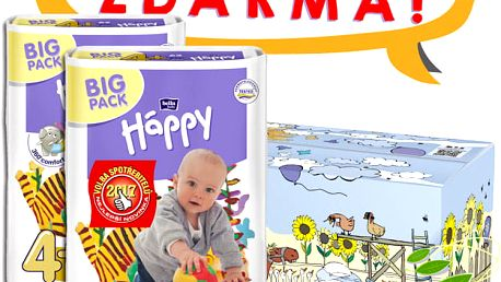BELLA HAPPY Maxi 4 Plus Big TOY BOX (9-20 kg) 124 ks – jednorázové pleny