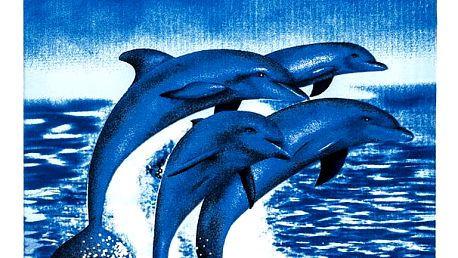 JAHU Plážová osuška Delfíni, 70 x 150 cm