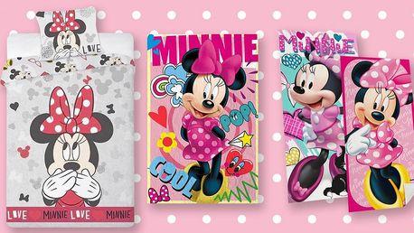 Povlečení, deky a osušky s myškou Minnie