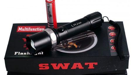 Multifunkční policejní baterka SWAT + dobíjecí baterie