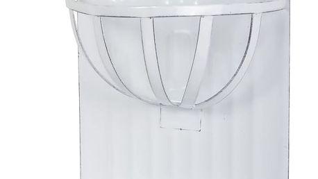 IB LAURSEN Smaltovaná nástěnná mýdlenka s přihrádkou, bílá barva, smalt