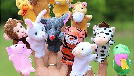 Velká sada mini maňáskových zvířátek - 12 kusů