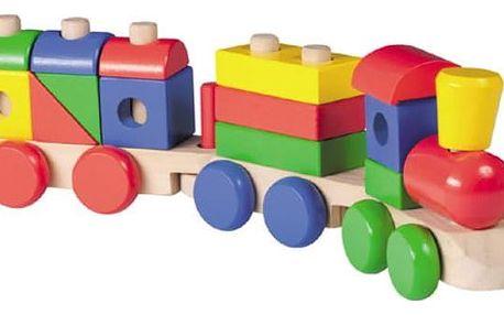 Dětské dřevěné zatloukací autíčko nebo vláček