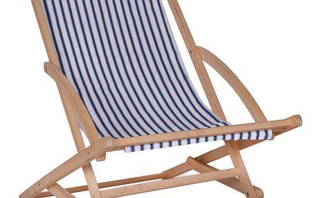 Zahradní lehátko s konstrukcí z bukového dřeva Garden Trading Rocking Deck Chair Stripe