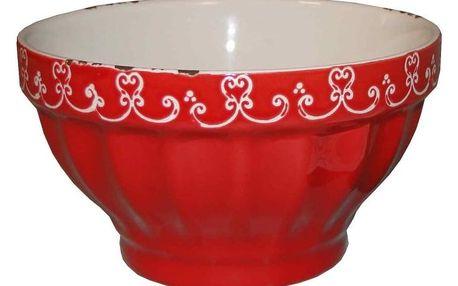 Červená miska Antic Line, ⌀ 13,5 cm
